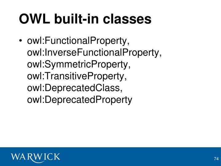 OWL built-in classes