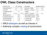 owl class constructors