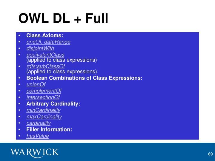 OWL DL + Full