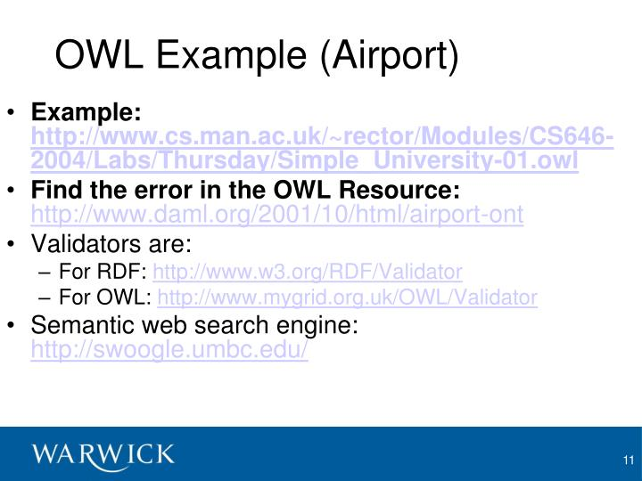OWL Example (Airport)
