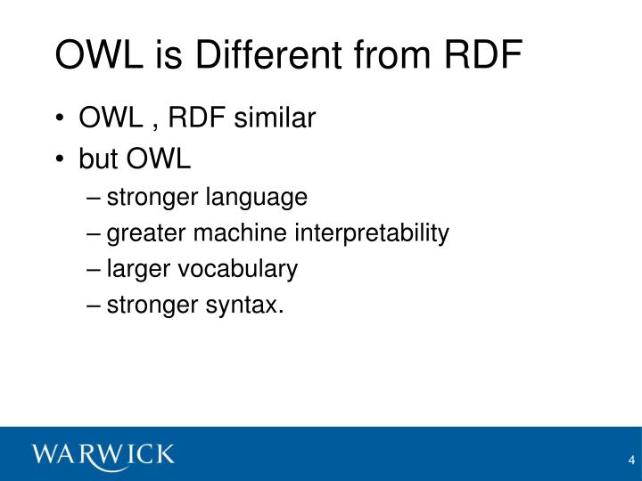 OWL is Different from RDF