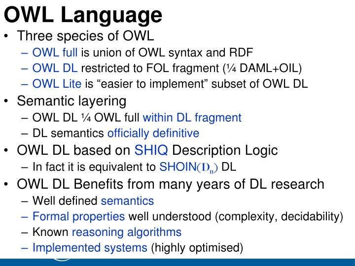 OWL Language