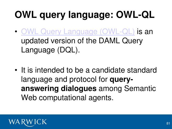 OWL query language: OWL-QL