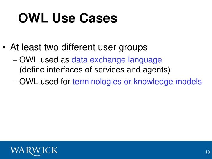 OWL Use Cases