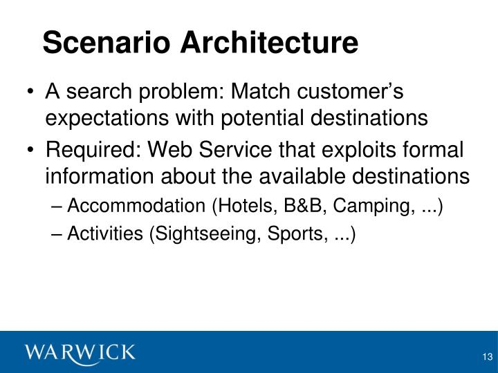 Scenario Architecture