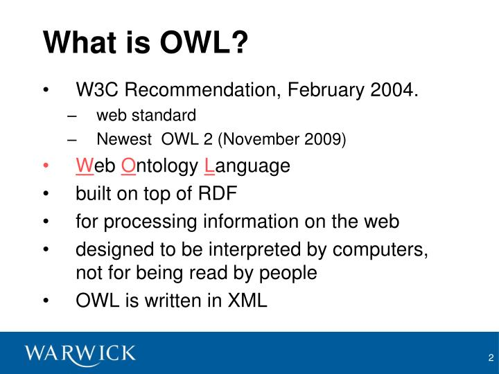 What is OWL?