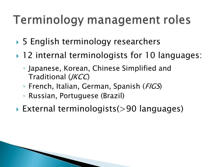 5 English terminology researchers