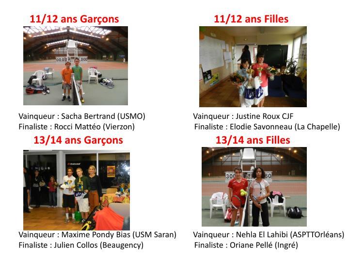 11/12 ans Garçons