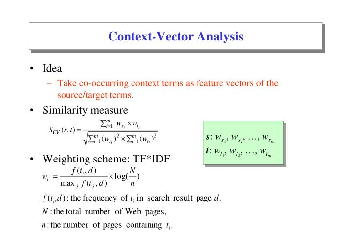 Context-Vector Analysis