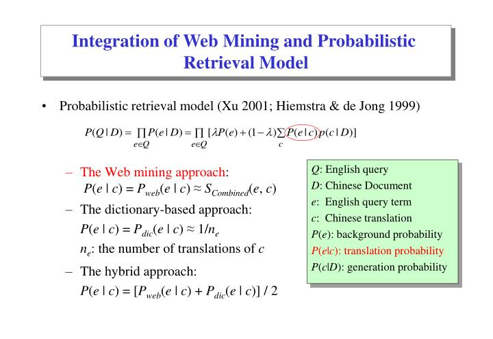Integration of Web Mining and Probabilistic