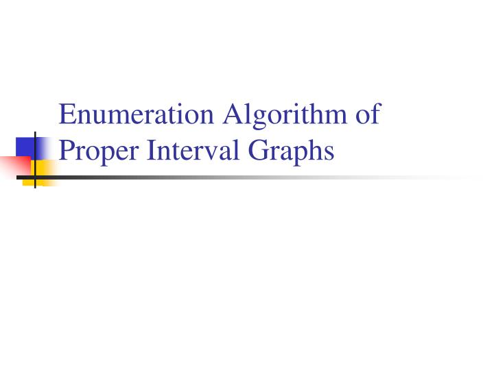 Enumeration Algorithm of