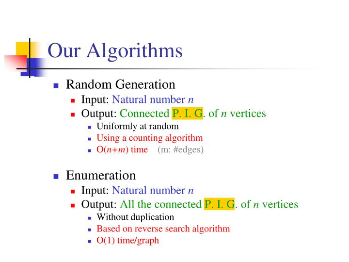 Our Algorithms