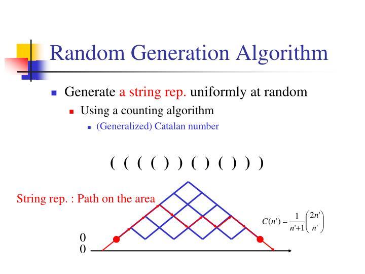 Random Generation Algorithm