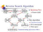 reverse search algorithm
