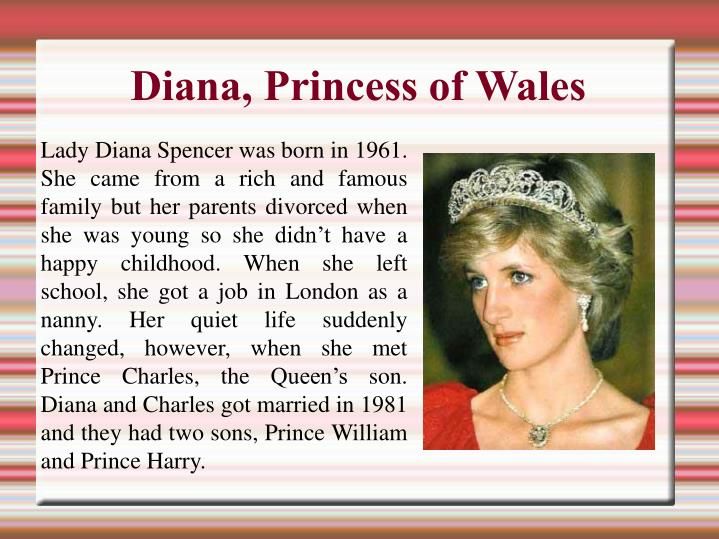 princess diana essay Free essays available online are good but they will not follow the guidelines of your particular writing assignment if you need a custom term paper on college papers: princess diana, you can hire a professional writer here to write you a high quality authentic essay.