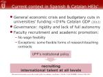 current context in spanish catalan heis