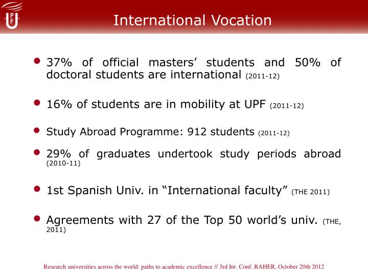 International Vocation