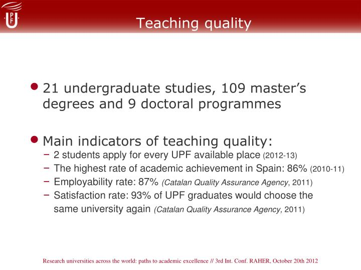 Teaching quality