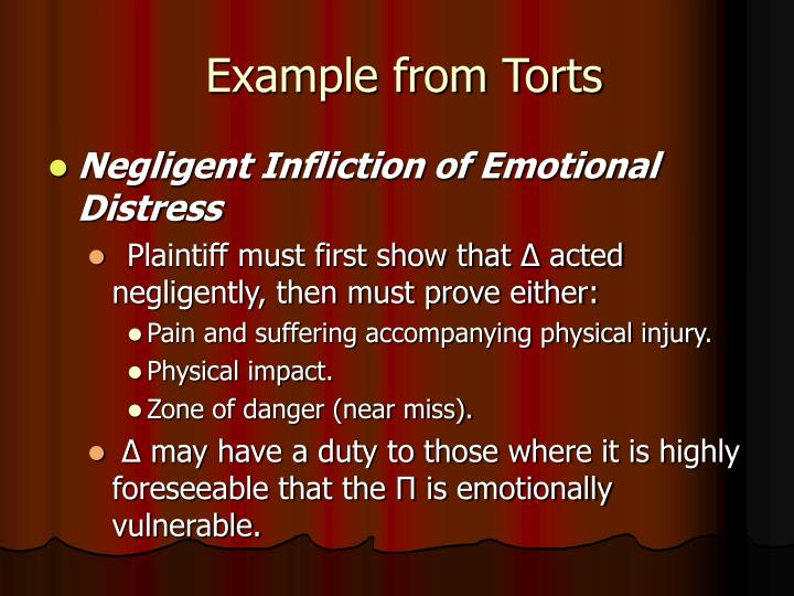 Example from Torts