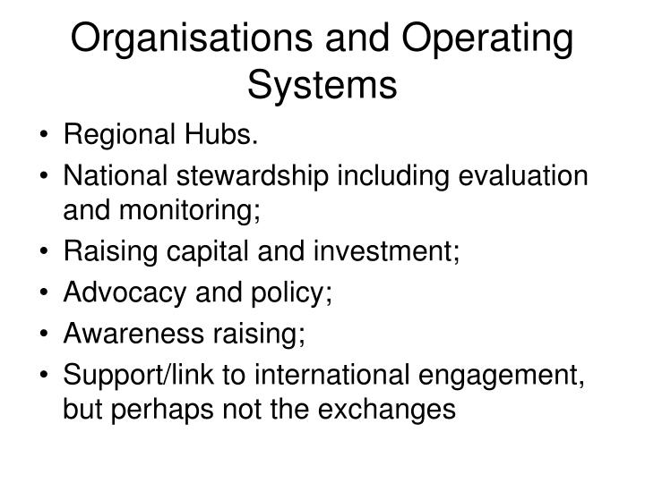Organisations and Operating Systems