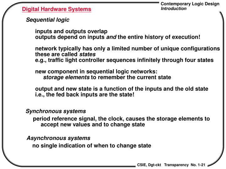 Digital Hardware Systems