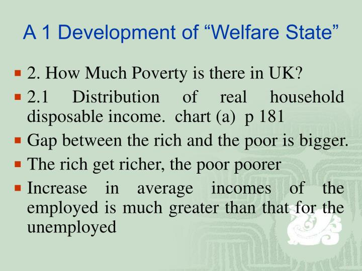 "A 1 Development of ""Welfare State"""