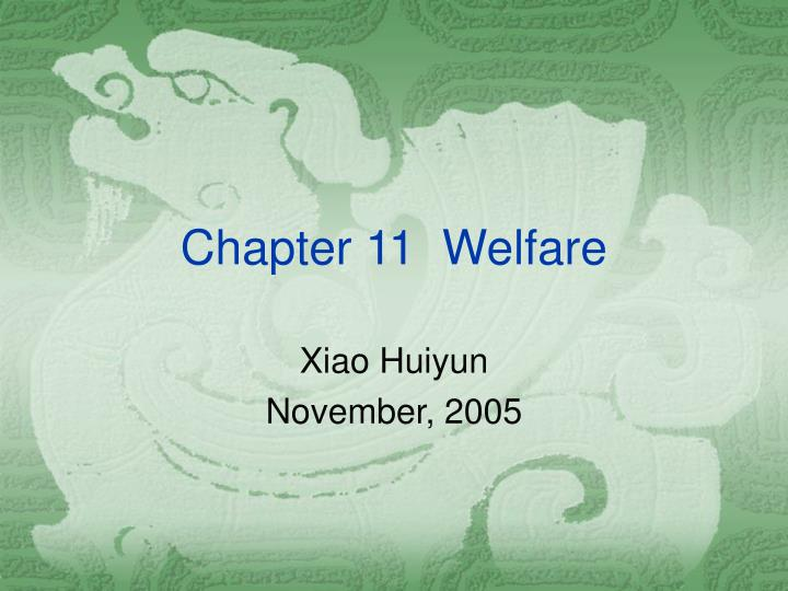 Chapter 11 welfare