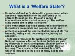 what is a welfare state