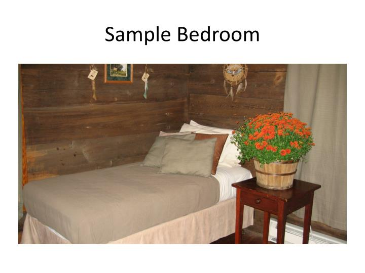 Sample Bedroom
