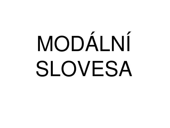 MODÁLNÍ SLOVESA