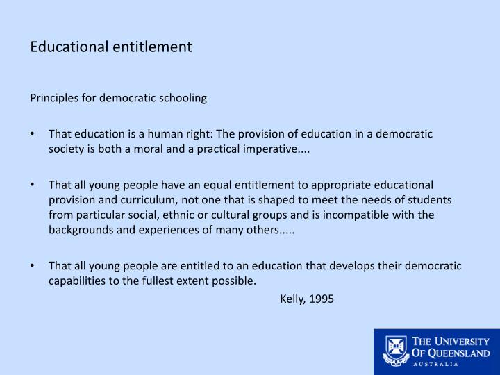 Educational entitlement