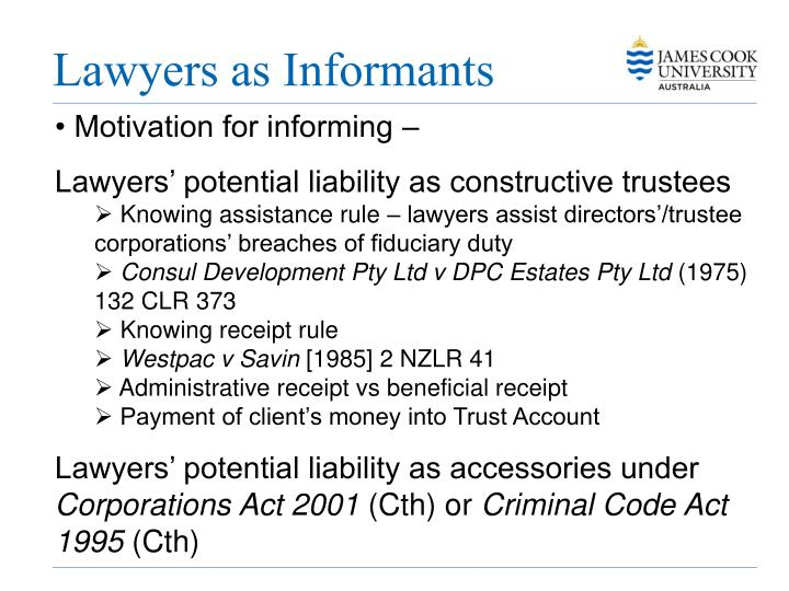 Lawyers as Informants