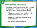 understanding adaptations