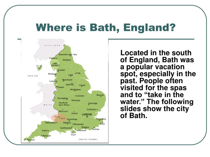 Where is Bath, England?