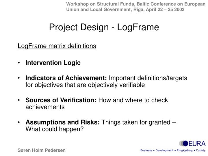 Project Design - LogFrame