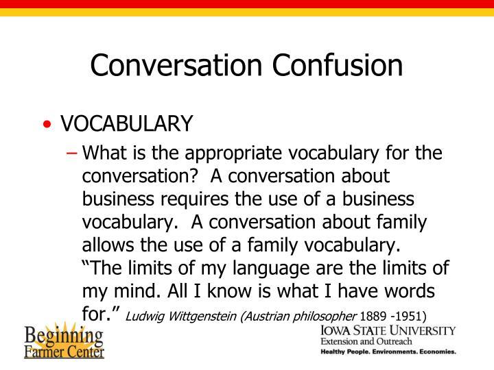 Conversation Confusion