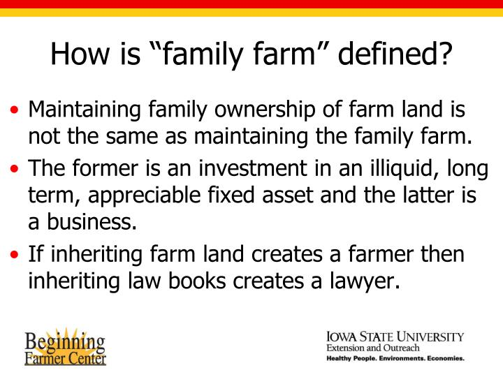 "How is ""family farm"" defined?"
