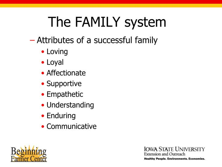 The FAMILY system