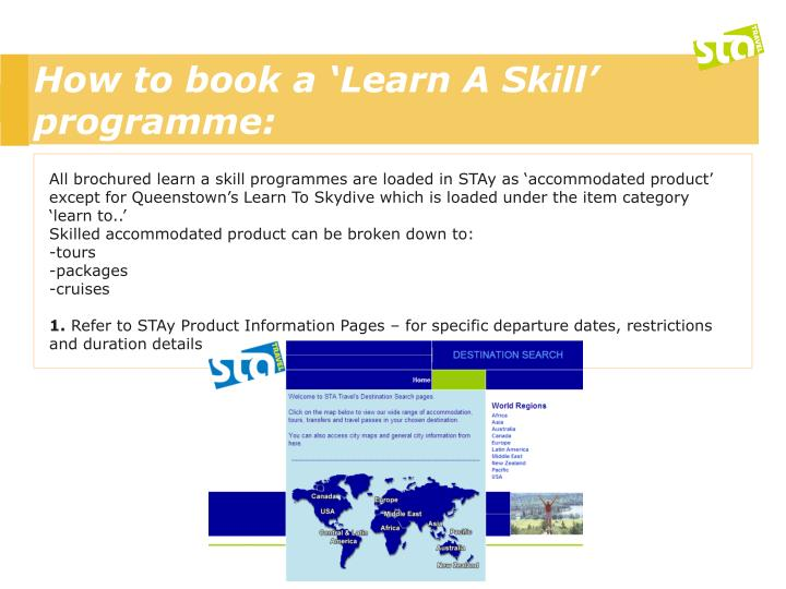 How to book a 'Learn A Skill' programme: