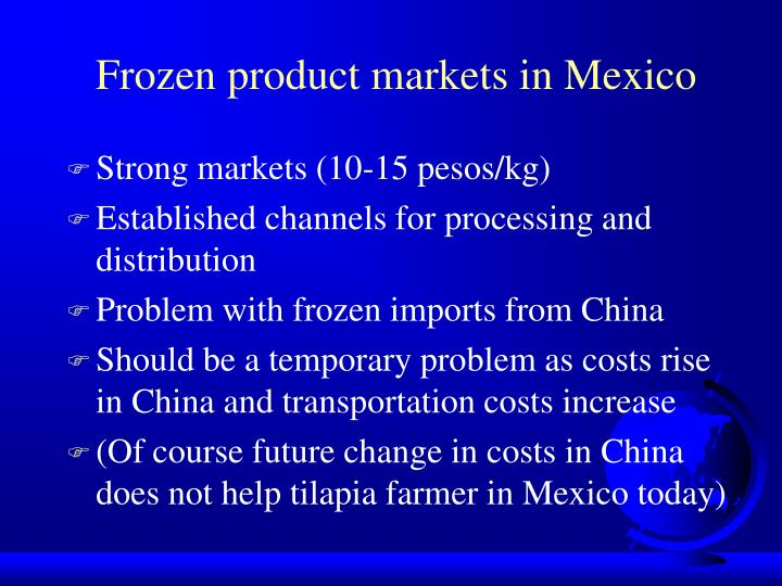 Frozen product markets in Mexico