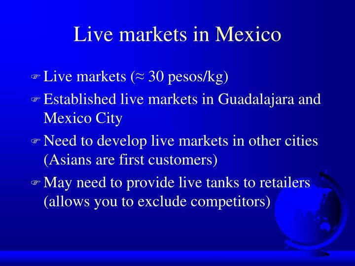 Live markets in Mexico
