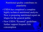 nutritional quality contributes to popularity