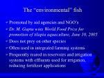 the environmental fish