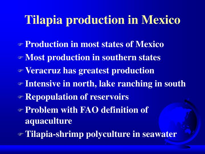 Tilapia production in Mexico