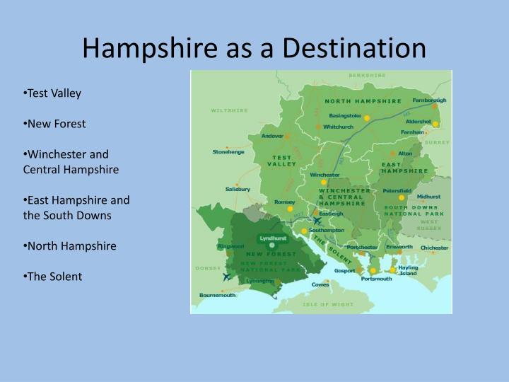Hampshire as a Destination