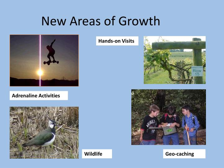 New Areas of Growth