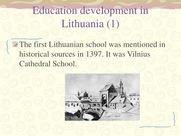 Education development in Lithuania (1)
