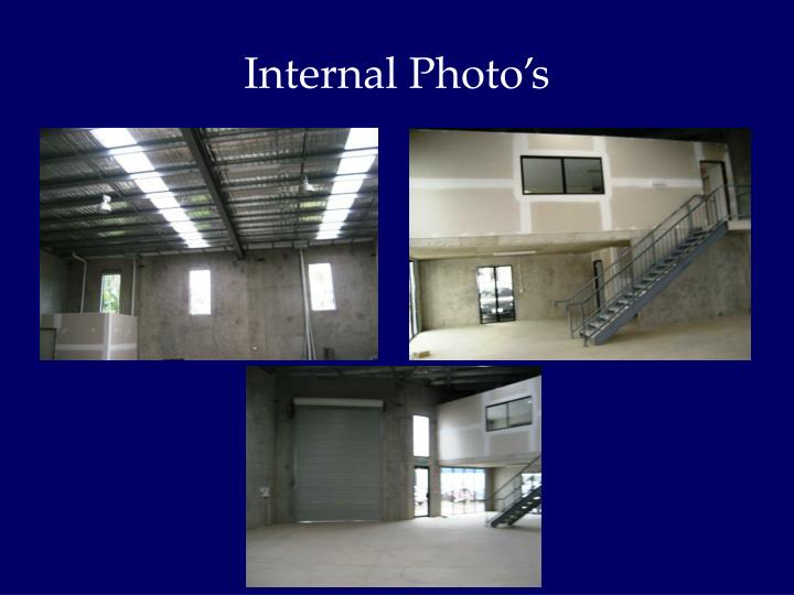 Internal Photo's