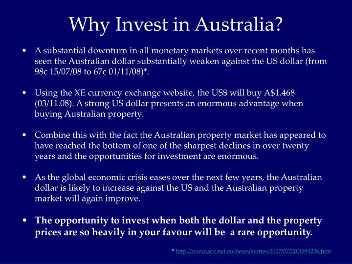 Why Invest in Australia?