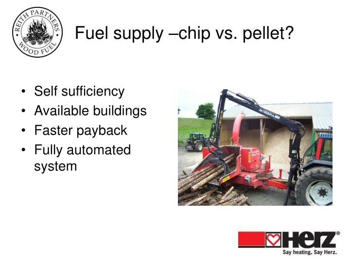Fuel supply –chip vs. pellet?